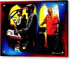 R And B Band Acrylic Print by Sadie Reneau