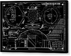 R. Buckminster Fuller Geodesic Dome Home Acrylic Print