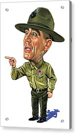 R. Lee Ermey As Gunnery Sergeant Hartman Acrylic Print by Art