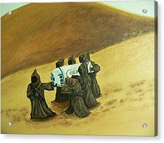 R2d2 And Jawas Acrylic Print by Dan Wagner