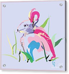 Rabbit - Bunny In Color Acrylic Print