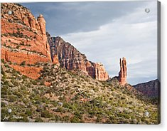 Acrylic Print featuring the photograph Rabbit Ears Spire At Sunset by Jeff Goulden