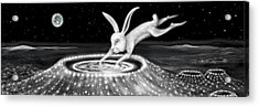 Rabbit On The Moon Acrylic Print by Jerod  Kytah