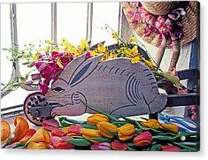 Rabbit Wheel Barrow Acrylic Print