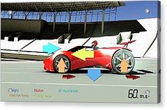 Race Car Physics Acrylic Print by Animate4.com/science Photo Libary