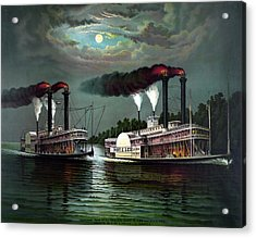 Race Of The Steamers Robert E Lee And Natchez Acrylic Print