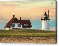 Race Point Light At Sunset Acrylic Print