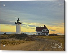 Race Point Lighthouse At Sunset Acrylic Print