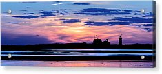 Race Point Lighthouse Silhouette  Acrylic Print by Bill Wakeley