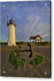 Race Point Lighthouse Acrylic Print by Susan Candelario
