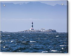 Race Rocks Lighthouse Is Situated Acrylic Print by Debra Brash