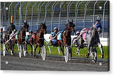 Acrylic Print featuring the photograph Race To The Finish by Davandra Cribbie