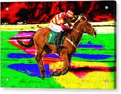 Racehorse Acrylic Print by Ron Harpham