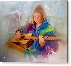 Rachael Acrylic Print by Janet McGrath
