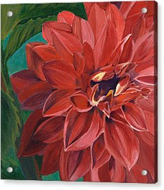 Acrylic Print featuring the painting Rachael's Dahlia by Jodi Terracina