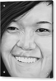 Acrylic Print featuring the drawing Rachel by Jessica Tookey