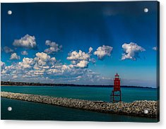 Racine Harbor Lighthouse Acrylic Print