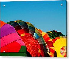 Racing Balloons Acrylic Print by Bill Gallagher