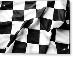 Racing Flag Acrylic Print by Les Cunliffe