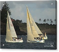 Acrylic Print featuring the photograph Racing In Kauai by Laura  Wong-Rose