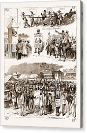 Racing In The East Turf Notes At Umballa And Hong Kong Acrylic Print by Litz Collection