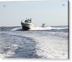 Racing To The Docks Acrylic Print