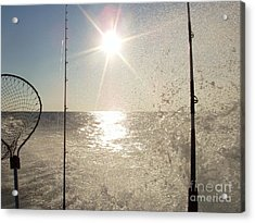 Racing To The Fishing Grounds Acrylic Print by John Telfer