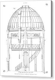 Radcliffe Observatory Telescope Acrylic Print