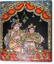Radha Krishna Acrylic Print by Jayashree
