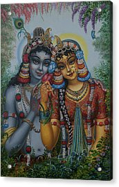 Radha Kunjabihari Acrylic Print by Vrindavan Das