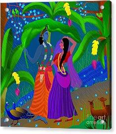 Radha Likes Rain Acrylic Print