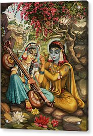 Radha Playing Vina Acrylic Print