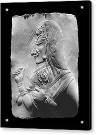 Acrylic Print featuring the relief Radha  by Suhas Tavkar