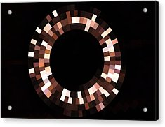 Radial Mosaic In Brown Acrylic Print
