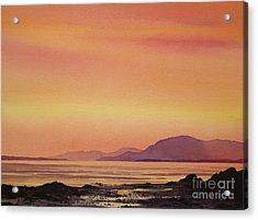 Radiant Island Sunset Acrylic Print by James Williamson