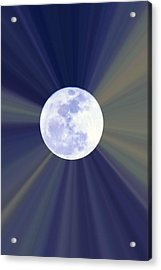 Acrylic Print featuring the photograph Radiant Moon by Kelly Nowak
