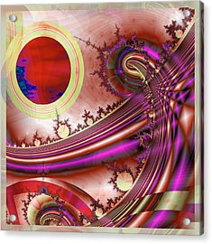 Radiant Orchid Acrylic Print by Wendy J St Christopher