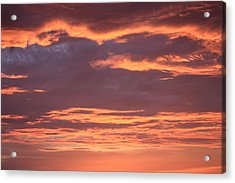 Acrylic Print featuring the photograph Radiant Sunset 3 by Karen Nicholson