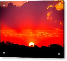 Acrylic Print featuring the photograph Radiant Sunset by Dee Dee  Whittle