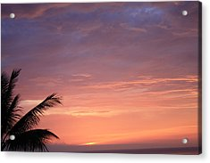 Acrylic Print featuring the photograph Radiant Sunset by Karen Nicholson