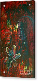 Acrylic Print featuring the painting Radiating Light by Mini Arora