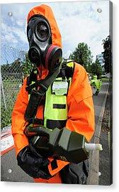 Radiation Emergency Response Worker Acrylic Print
