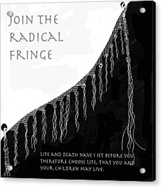 Acrylic Print featuring the drawing Radical Fringe by Aurora Levins Morales