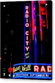 Radio City Music Hall Acrylic Print by Ed Weidman