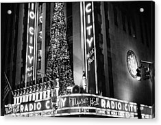 Acrylic Print featuring the photograph Radio City New York by Dave Beckerman