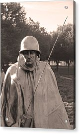 Acrylic Print featuring the photograph Radio Telephone Operator Soldier by Nicola Nobile