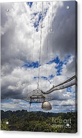 Radio Telescope At Arecibo Observatory In Puerto Rico Acrylic Print