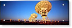 Radio Telescopes In A Field, Very Large Acrylic Print