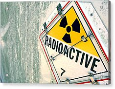 Radioactive Warning Sign Acrylic Print