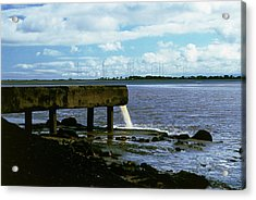 Radioactive Waste Pipe Acrylic Print by Martin Bond/science Photo Library